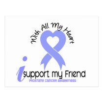 PROSTATE CANCER I Support My Friend Postcard