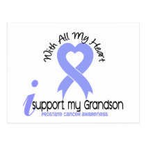 PROSTATE CANCER I Support My Grandson Postcard