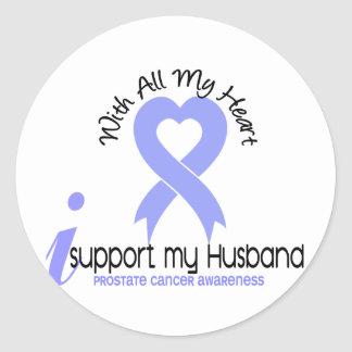 PROSTATE CANCER I Support My Husband Classic Round Sticker