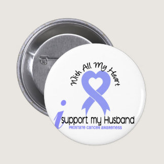 PROSTATE CANCER I Support My Husband Pinback Button