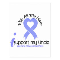 PROSTATE CANCER I Support My Uncle Postcard