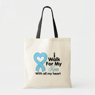 Prostate Cancer I Walk For My Hero Budget Tote Bag