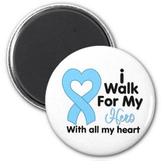 Prostate Cancer I Walk For My Hero Fridge Magnet