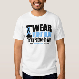 Prostate Cancer I Wear Light Blue Father-in-Law Tshirts