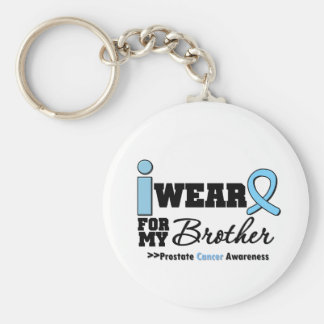 Prostate Cancer I Wear Light Blue For My Brother Basic Round Button Keychain