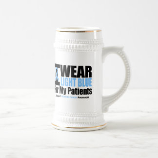 Prostate Cancer I Wear Light Blue For My Patients Coffee Mugs