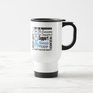 Prostate Cancer I Wear Light Blue Ribbon TRIBUTE Coffee Mugs