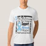 Prostate Cancer I Wear Light Blue Ribbon TRIBUTE Tshirt