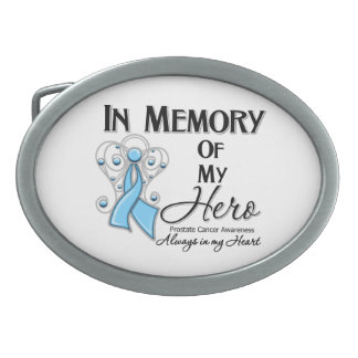 Prostate Cancer In Memory of My Hero Oval Belt Buckle