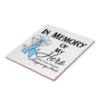 Prostate Cancer In Memory of My Hero Ceramic Tiles