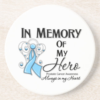 Prostate Cancer In Memory of My Hero Beverage Coasters