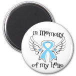 Prostate Cancer In Memory of My Hero Refrigerator Magnet