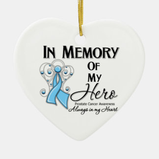 Prostate Cancer In Memory of My Hero Christmas Tree Ornament