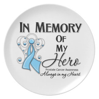 Prostate Cancer In Memory of My Hero Plate