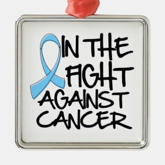 Prostate Cancer - In The Fight Square Metal Christmas Ornament