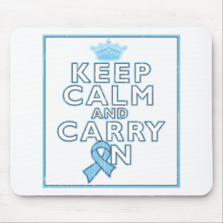 Prostate Cancer Keep Calm and Carry On Mouse Pad