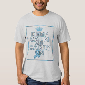 Prostate Cancer Keep Calm and Carry On Tee Shirt