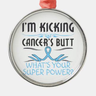Prostate Cancer Kicking Cancer Butt Super Power Ornament