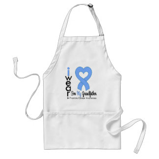 Prostate Cancer Light Blue Heart Ribbon GRANDFATHE Adult Apron