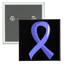 Prostate Cancer Light Blue Ribbon 3 Button