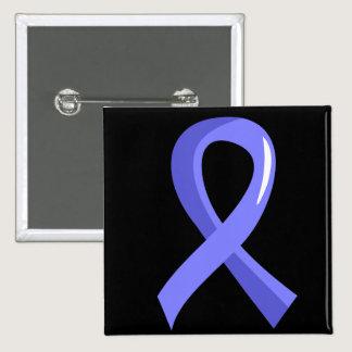Prostate Cancer Light Blue Ribbon 3 Button