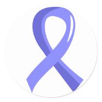 Prostate Cancer Light Blue Ribbon 3 Classic Round Sticker