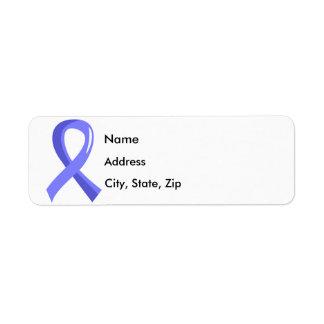 Prostate Cancer Light Blue Ribbon 3 Custom Return Address Label