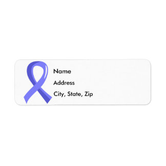 Prostate Cancer Light Blue Ribbon 3 Label