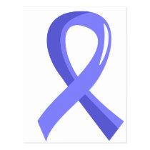 Prostate Cancer Light Blue Ribbon 3 Postcard