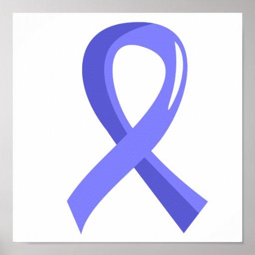 Prostate Cancer Light Blue Ribbon 3 Poster