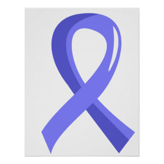 Prostate Cancer Light Blue Ribbon 3 Print