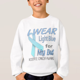 Prostate Cancer Light Blue Ribbon Awareness Logo Sweatshirt