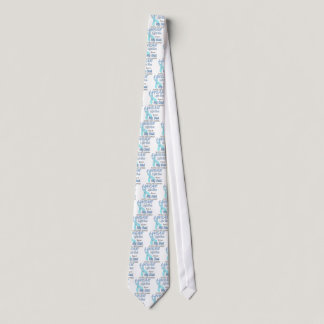 Prostate Cancer Light Blue Ribbon Awareness Logo Tie