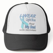 Prostate Cancer Light Blue Ribbon Awareness Logo Trucker Hat