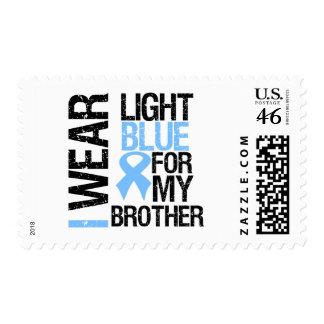 Prostate Cancer Light Blue Ribbon Brother Postage