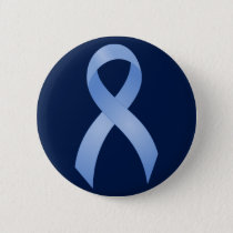 Prostate Cancer Light Blue Ribbon Button