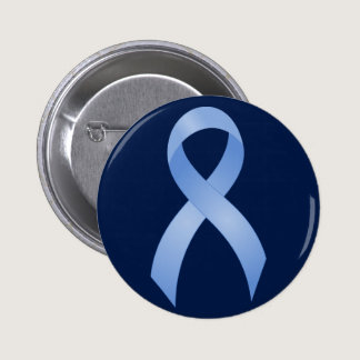 Prostate Cancer Light Blue Ribbon Button