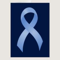 Prostate Cancer Light Blue Ribbon Card