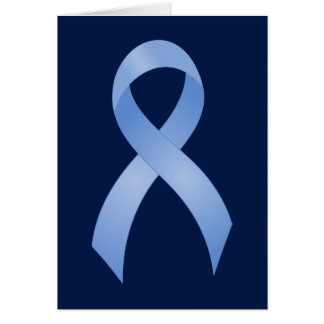 Prostate Cancer Light Blue Ribbon Card