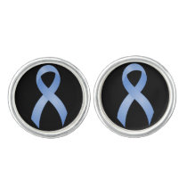 Prostate Cancer Light Blue Ribbon Cufflinks
