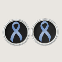 Prostate Cancer Light Blue Ribbon Cufflinks