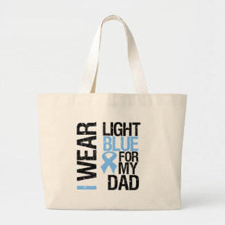Prostate Cancer Light Blue Ribbon Dad Tote Bags