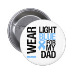 Prostate Cancer Light Blue Ribbon Dad Pinback Button
