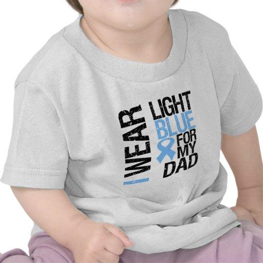 Prostate Cancer Light Blue Ribbon Dad T Shirt
