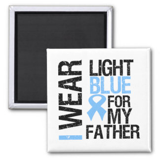 Prostate Cancer Light Blue Ribbon Father Refrigerator Magnet