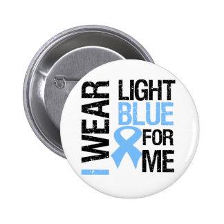 Prostate Cancer Light Blue Ribbon For Me Pins