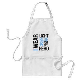Prostate Cancer Light Blue Ribbon For My Hero Adult Apron