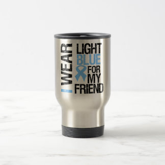 Prostate Cancer Light Blue Ribbon Friend Coffee Mug