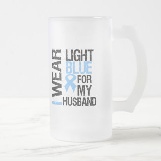 Prostate Cancer Light Blue Ribbon Husband Coffee Mugs