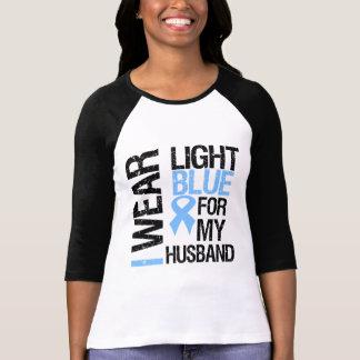 Prostate Cancer Light Blue Ribbon Husband Tees